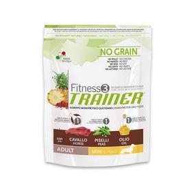 Сухой корм Trainer Fitness3 No Grain Mini Adult Horse and Peas беззерновой, конина, горох, 800 г