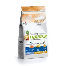 Сухой корм Trainer Fitness3 No Gluten Medium/Maxi Adult без глютена, лосось/кукуруза, 3 кг