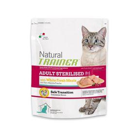 Сухой корм Trainer Natural Adult Sterilised для стерилизованных кошек с белым мясом, 1,5кг
