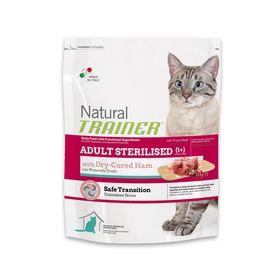 Сухой корм Trainer Natural Adult Sterilised для стерилизованных кошек, сыровяленая ветчина, 1,5кг