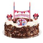 """Праздничный набор для торта """"С Днем Рождения"""" 2 свечи, Минни Маус, 12х20 см"""
