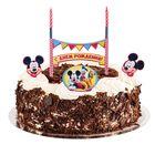 """Праздничный набор для торта """"С Днем Рождения"""" 2 свечи, Микки Маус и друзья, 12х20 см"""