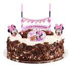 """Свеча в торт Дисней """"С Днем Рождения"""" малышка, 2 свечи, Минни Маус"""