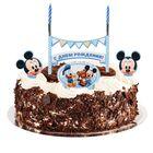 """Свеча в торт Дисней """"С Днем Рождения"""" малыш, 2 свечи, Микки Маус"""