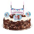 """Свеча в торт Дисней """"С Днем Рождения"""" 2 свечи, Холодное сердце"""