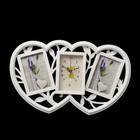 "Wall clock, series: the Photo, ""Hearts"", white, 2 photo frames, 29х47 cm, mix"