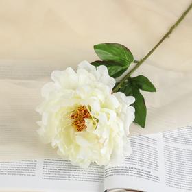 """Flower faux """"Velvet peony"""" white"""