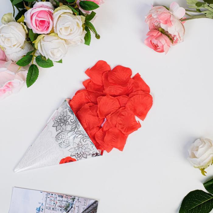 Лепестки роз, красный, 22 х 12 см