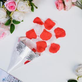 Rose petals sack, red-white