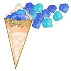 Лепестки роз с кульком, сине-голубые