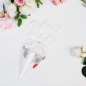 Rose petals sack, white