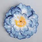 Цветы искусственные для декора, цвет голубой
