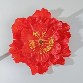 Artificial flowers for decor, color red