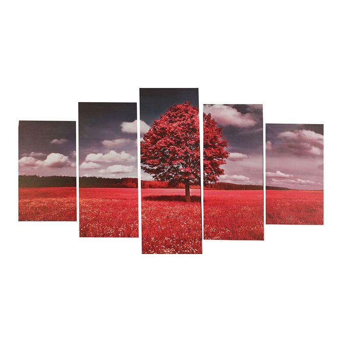 """Модульная картина на подрамнике """"Дерево в поле"""""""