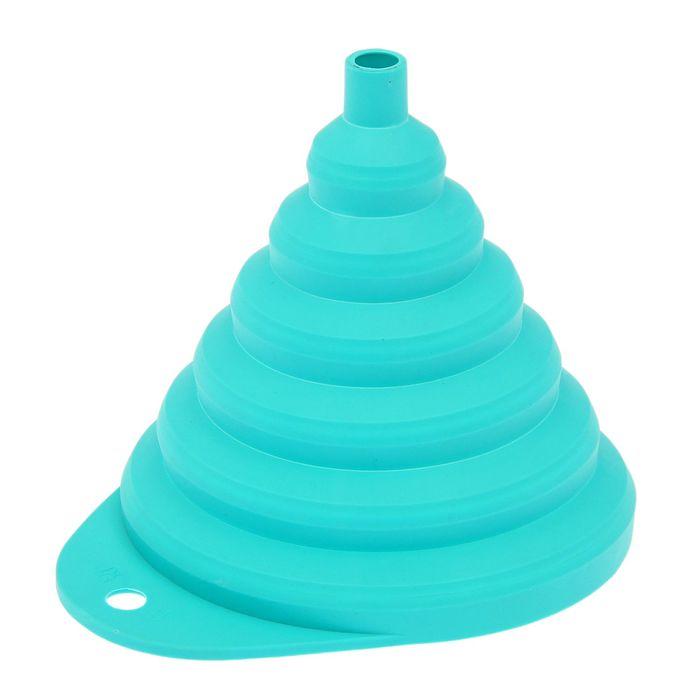 Воронка складная d=13 см, цвет бирюза
