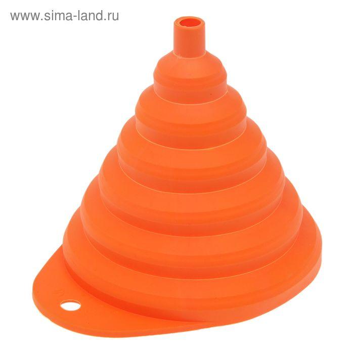 Воронка складная d=13 см, цвет мандарин