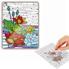 "Coloring antistress, tablet case ""Floral patterns"""