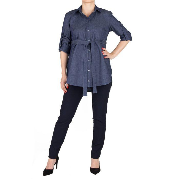 Рубашка для беременных арт 3068312173 цвет синий джинс, р-р 42