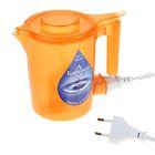 """Чайник электрический """"Капелька"""", 0.5 л, 600 Вт, оранжевый"""