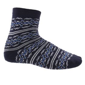 Носки детские плюшевые С22 цвет темно-синий, принт МИКС, р-р 22 Ош