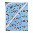 Пеленка банная с капюшоном, размер 90*90 см, цвет голубой 3-4Ф