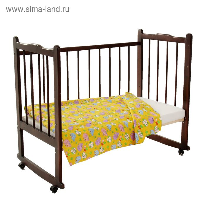 Пододеяльник детский, размер 110*140 см, цвет желтый 35-1С(Ш)