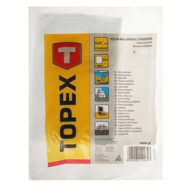 Плёнка защитная TOPEХ, 4х5 м, 7 мкм, полиэтиленовая