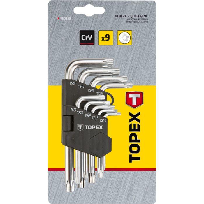 Ключи звездочки TOPEX, TS10-50, набор 9 шт.