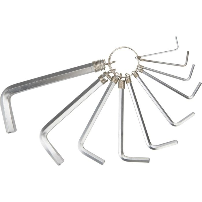 Ключи TOPEX, шестигранные 1.5-10 мм, набор 10 шт.