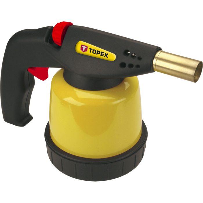 Лампа паяльная газовая TOPEX, картриджи 190 г, пьезозажигание