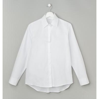 Рубашка женская полуприлегающая, размер 44-46, белый, хлопок 100%