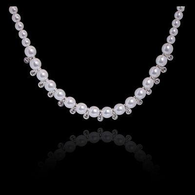 """Ожерелье """"Солнечный луч"""", цвет белый в серебре"""