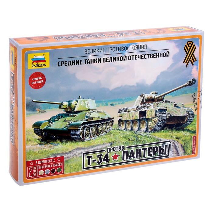 Набор сборных моделей «Великие противостояния: Т-34/76 против «Пантеры»