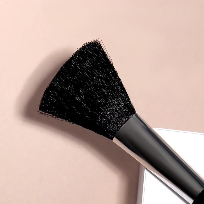 Кисть для макияжа/пудры и румян, скошенная, 16см, цвет чёрный