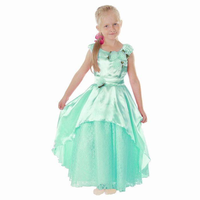 """Карнавальное платье """"Принцесса 002"""", р-р 56, рост 98-104 см, цвет мятный"""
