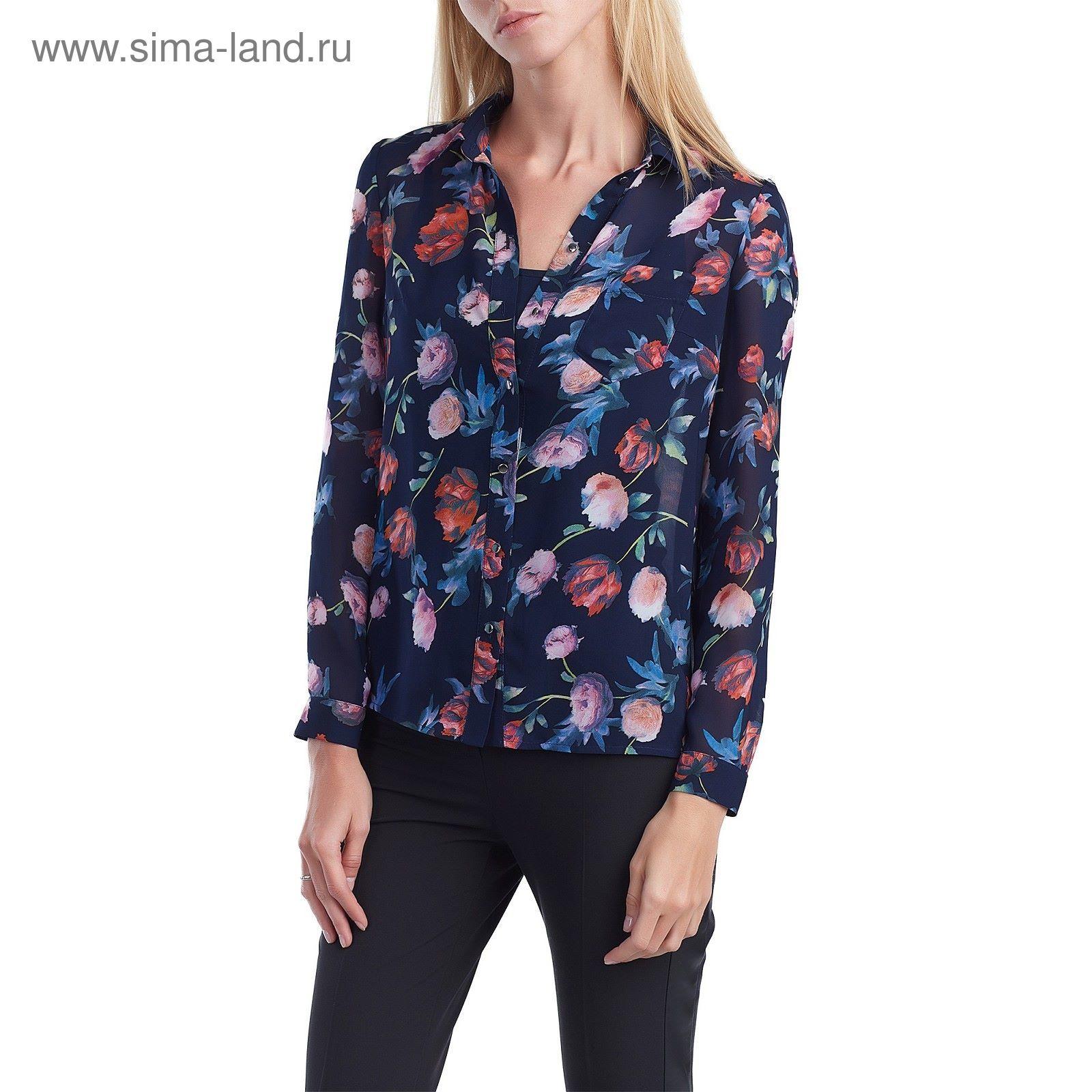 01ded1026ee0 Блуза женская 160821-9277-4 темно-синий, р-р 48 (1918725) - Купить ...