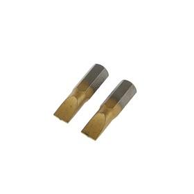 Биты TUNDRA, намагниченные, сталь S2, TiN, SL6 х 25 мм, 2 шт.
