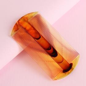 Расчёска двусторонняя, цвет янтарный Ош