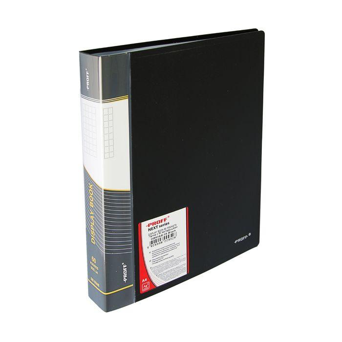 Папка с 60 прозрачными вкладышами А4, 750 мкм Next, чёрная