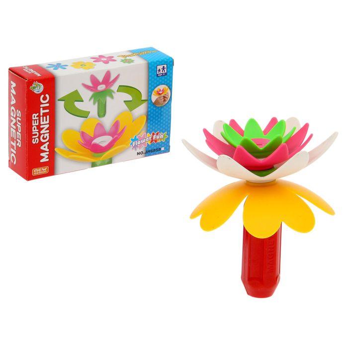 Конструктор магнитный «Цветок», 5 деталей