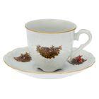 """Кофейная пара """"Охота"""": чашка 100 мл, блюдце 12,5 см"""