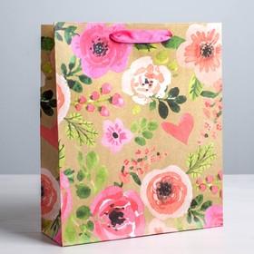 """Package craftily vertical """"Watercolor flowers"""", ML, 23 × 27 × 8 cm"""