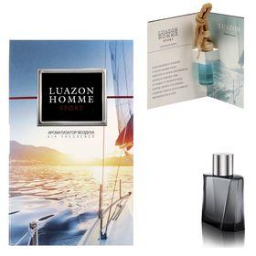 Автоароматизатор подвесной в бутылке в открытке 'Luazon Homme Sport', парфюм Ош