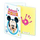 """Отпечаток с открыткой """"Любимой маме"""" Микки Маус+ краска 6 мл"""