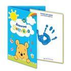 """Отпечаток с открыткой """"Дорогому дедушке"""" Медвежонок Винни и его друзья+ краска 6 мл"""