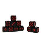 Кости игральные 1,2 × 1,2 см, чёрные, фасовка 100 шт.