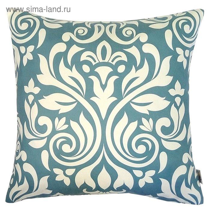 """Чехол для декоративной подушки """"Элизабет"""", размер 43х43 см, цвет бирюзовый"""