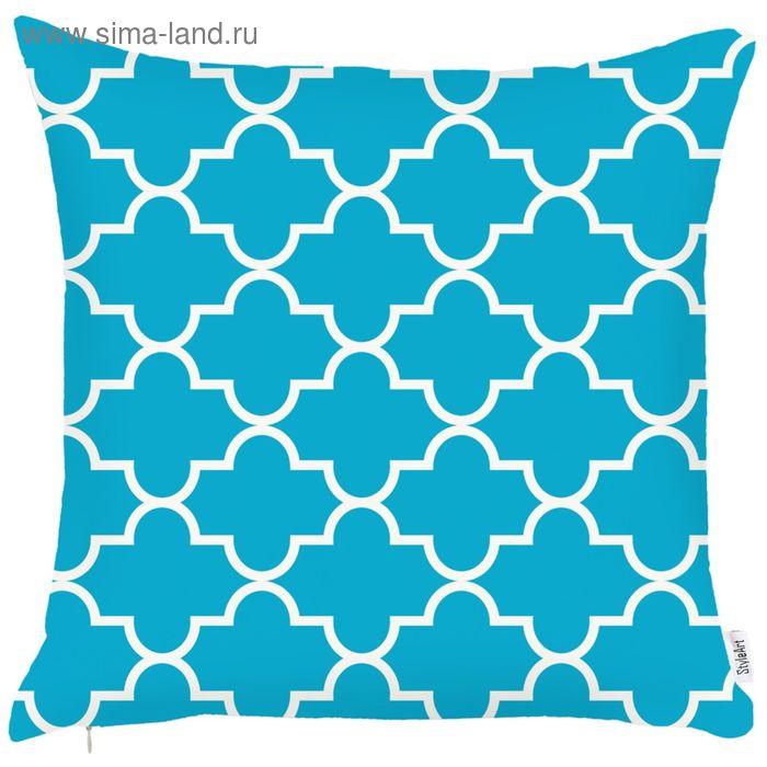 """Чехол для декоративной подушки """"Голубой океан"""", размер 45х45 см"""