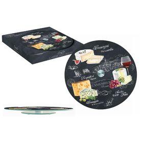 Блюдо стеклянное для сыра (вращающееся) 32см