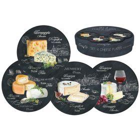 Набор из десертных тарелок 'Мир сыров', 4 предмета, 19 см Ош